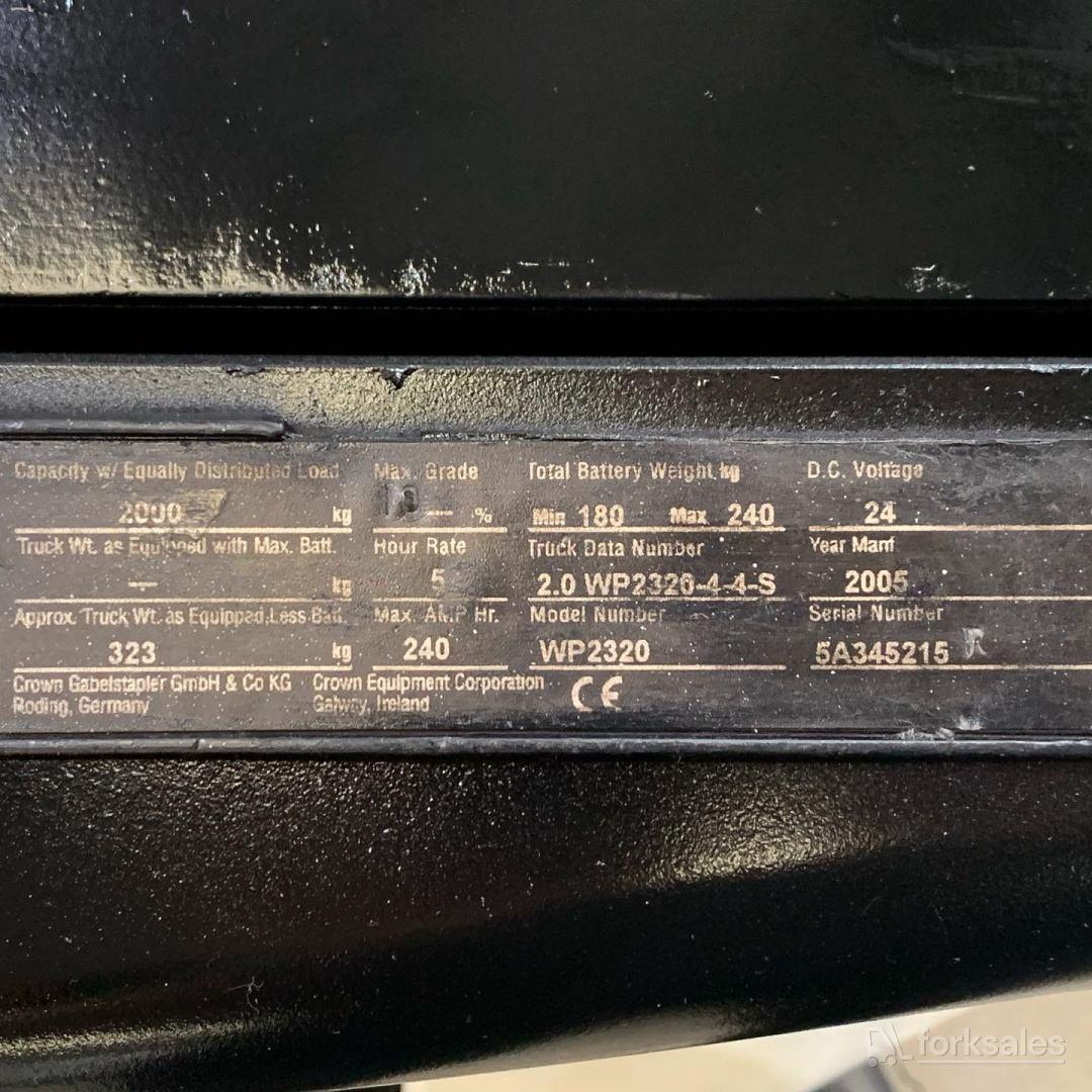 Crown 2T Electric Pallet Truck